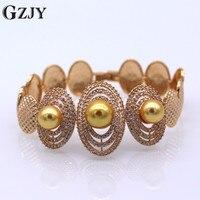 GZJY Bruids Sieraden Accessoires Goud Kleur Clear Zirkoon Met Geel Gesimuleerde Pearl Armband Voor Vrouwen