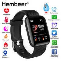 Reloj inteligente presión arterial Monitor de ritmo cardíaco podómetro rastreador de Fitness reloj deportivo hombre pulsera de salud reloj inteligente