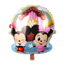 Baby Mickey Minnie Mouse Foil Balloon Garden Style Party Decoration Childrens Toys Showerg Gifts Kids Head Cute