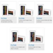 Mi Light 2,4G RF беспроводной Одноцветный диммер CCT RGB RGBW RGB + CCT FUT035 FUT036 FUT037 FUT038 FUT039 контроллер светодиодной ленты