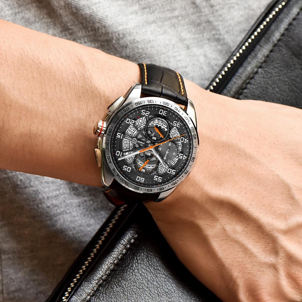Relojes deportivos de marca de diseño PAGANI para hombre, cronógrafo militar, reloj militar de cuarzo, acero inoxidable, reloj militar para hombre, reloj Masculino, Saat - 5