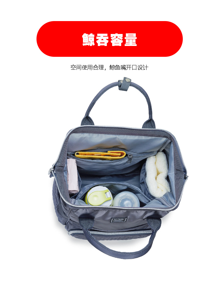 2019 new fashion Diaper bag multi-function Mummy Maternity Nappy Bag Brand Large Capacity Travel Backpack Designer (6)