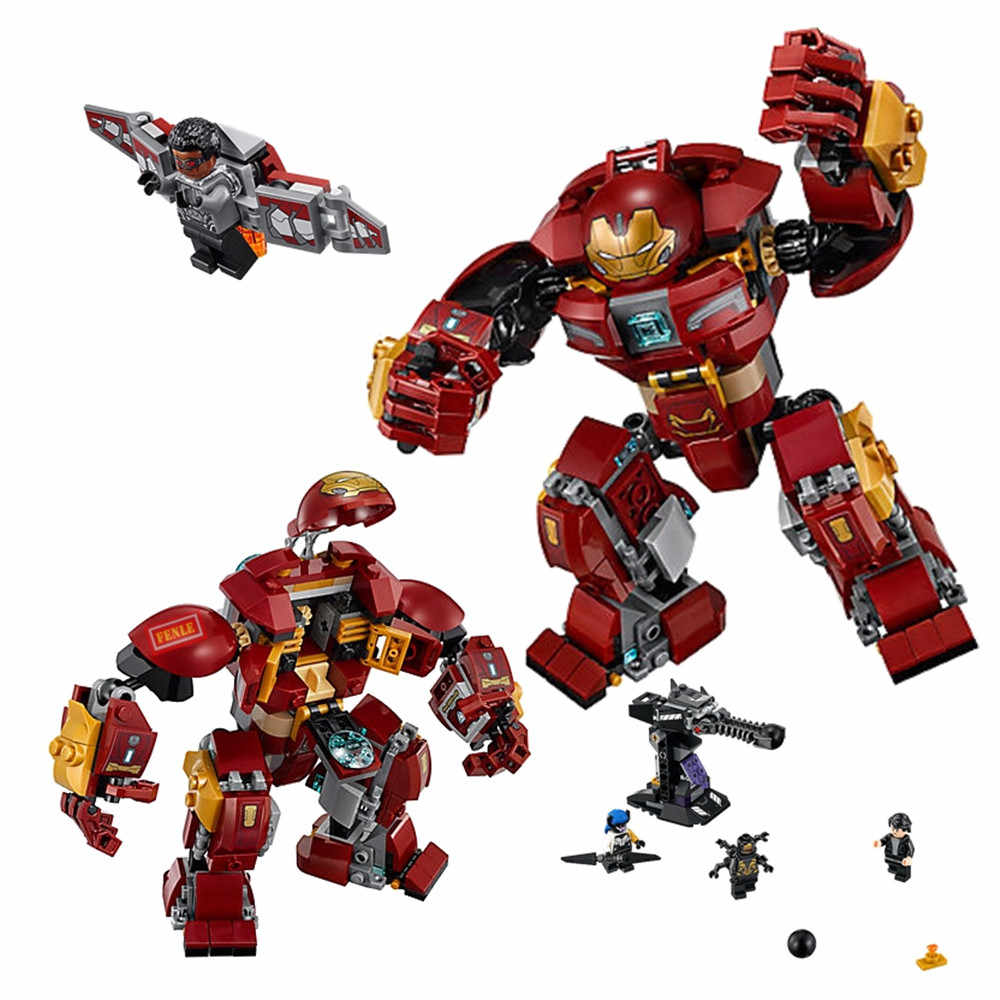 Marvel Avengers Ironman Hulkbuster blocks compatible with Legoinglys Iron Man 76104 Marvel Superhero Avengers Infinite War Toys
