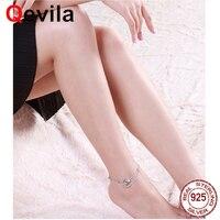 Qevila New Anklets Jewelry Summer Beach Foot Jewelry Leg 925 Sterling Silver Bule Crystal Ankle Bracelet for Women Foot Chain