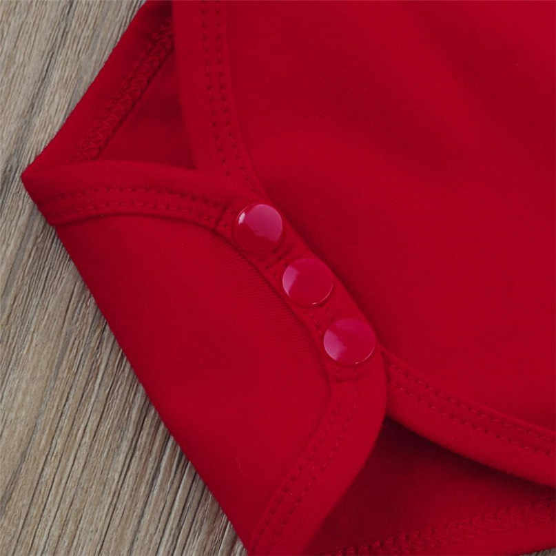 Красного цвета Дети 3 комплект одежды из двух предметов для малышей, комбинезон для младенцев мальчиков девочек + брюки + шляпа; Комплект рождественских нарядов хит продаж 2017 падение поставляется ST26