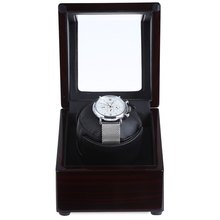 Automatic Rotating Wooden Watch Box