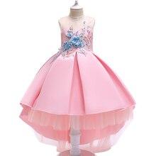 2019 new baby girl dress fashion year party wedding flower elegant childrens wear