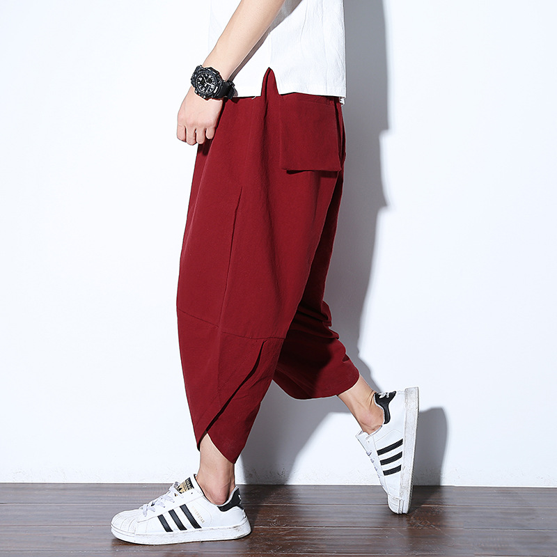 Men Yoga Pants Indian Harem Loose Wide Leg Male Sports Yoga Trousers Bloomers Running Jogging Leisure Track Sweat Sport Pants in Yoga Pants from Sports Entertainment