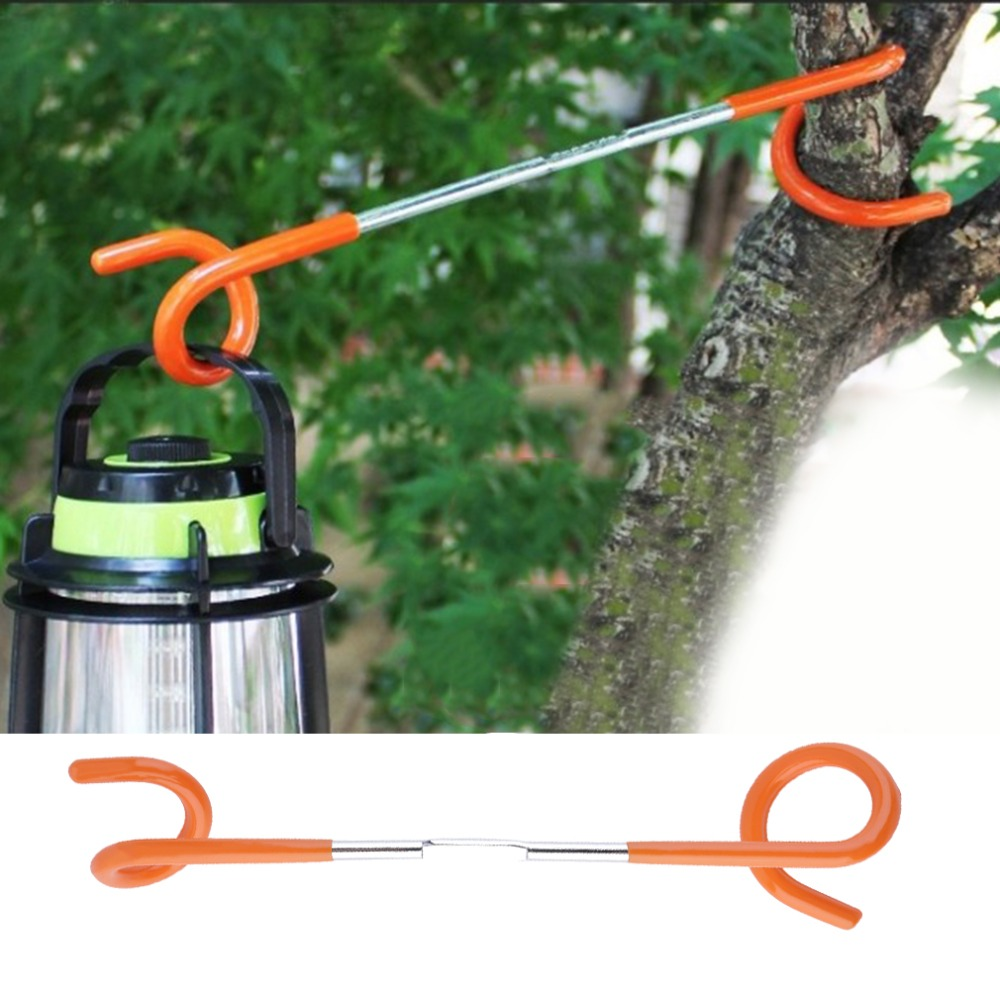 1pc 2 way Lantern Light Lamp Hanger Tent Pole Post Hook for Outdoor Camping
