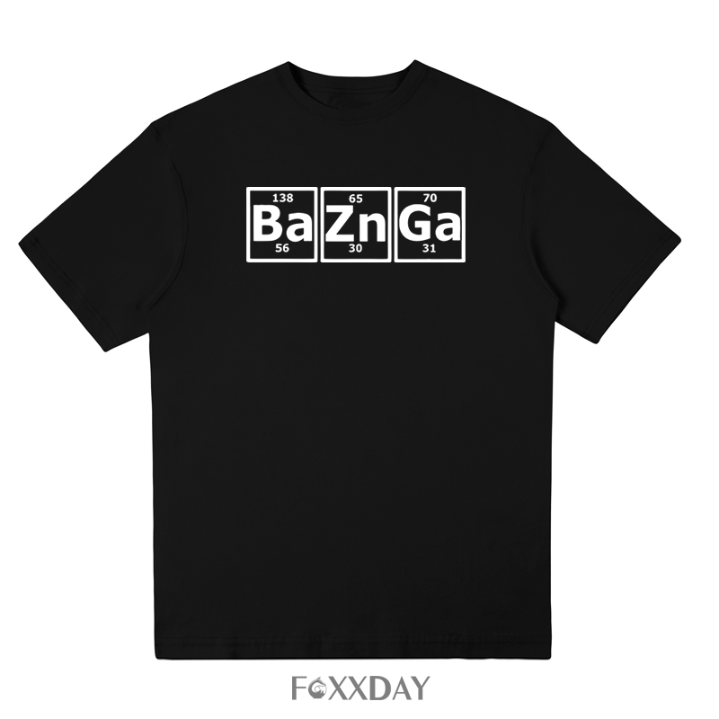 Casual 100% Cotton Men Short Sleeve T Shirt Bazinga Periodic Table The Big Bang Theory Sheldon Cooper T-shirt New Arrivals Tees