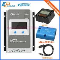 40A 12 В/24 В MPPT панели солнечные батарея регулятор заряда с MT50 Wi Fi функция и USB кабель Tracer 4210AN