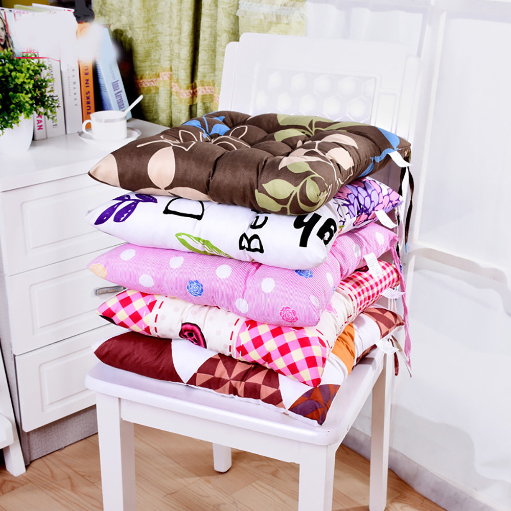 Thicken Elastic Soft Chair Cushions Kitchen Chair Seat Cushion Square Floor  Cushion Pad Solid Color Comfortable
