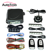 Keypad Alarm-System Push-Button Auto-Start Engine Pke Keyless 12v with Car One-Start-Stop-Button/engine