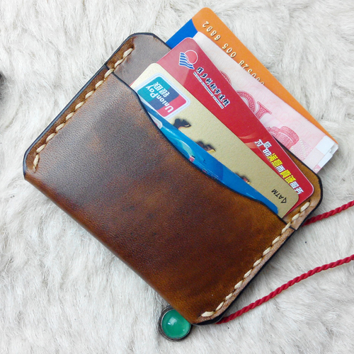 Genuine Leather Credit Card Holder Cover Retro Handmade Small Bank Cardcase Luxury Cool Card Protector Case for Credit Cards