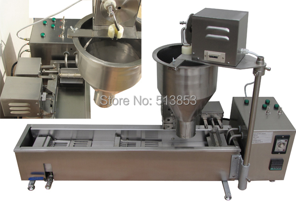 Free Shipping High quality Electric Automatic donut fryer/donut machine( GB-10D) automatic donut making and frying machines with 3 mold free shipping