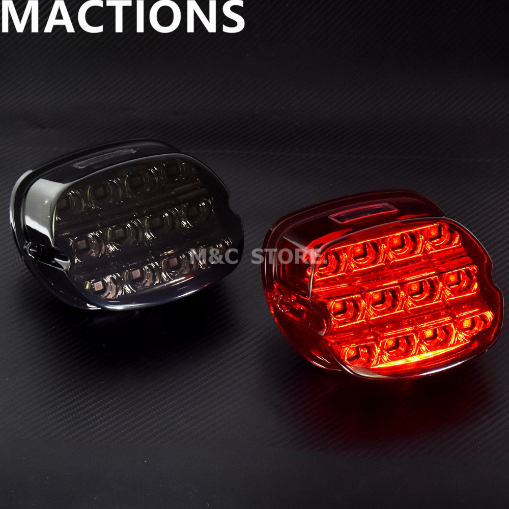 LED Brake Tail Light For Harley Dyna Fat Boy FLSTF Night Train FXSTB Softail Sportster Road King Electra Glide Road Glide