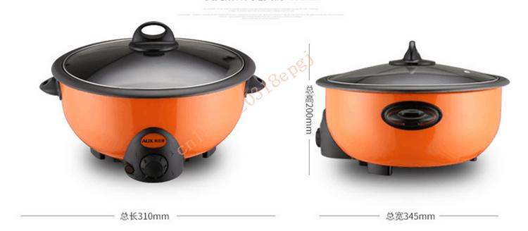 220 В AUX 3.5L Многофункциональный Электрический Hot Pot Плита антипригарным корейский бытовая электрическая сковорода горшок HJ35A2