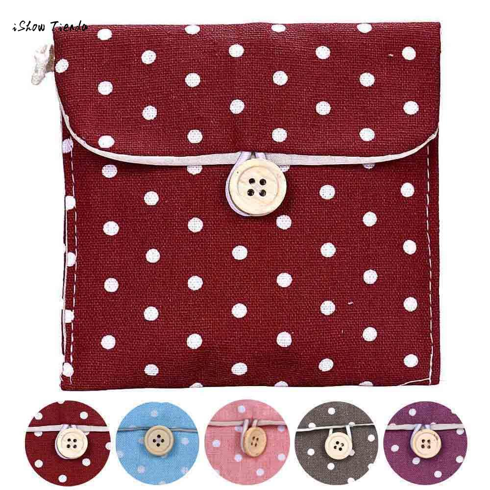 Bag Storage-Organizer Diaper Sanitary-Napkin Cotton Girl Package-Bag