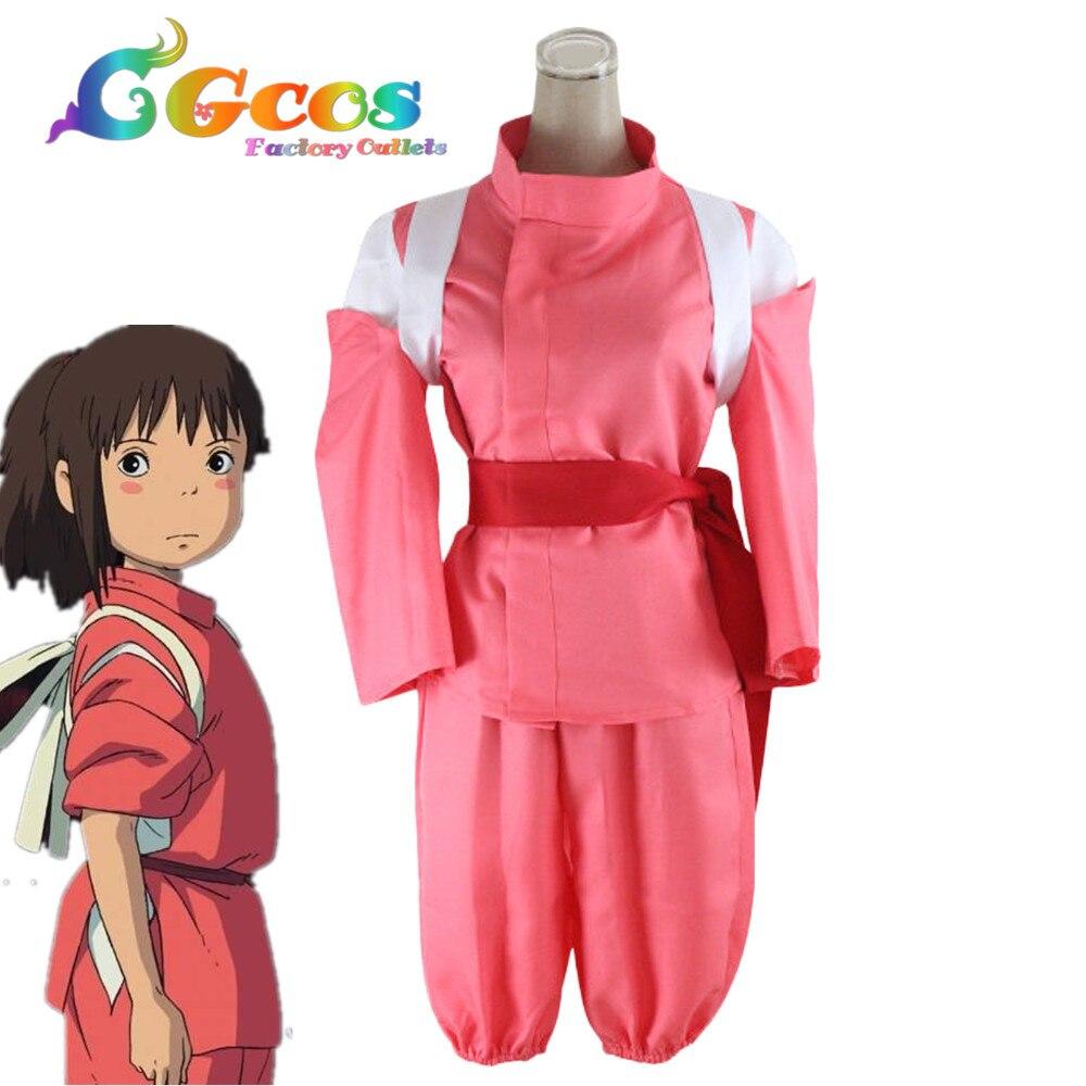 CGCOS livraison gratuite Costume Cosplay en spirale loin Ogino Chihiro uniforme vente au détail/en gros Halloween fête de noël toute taille