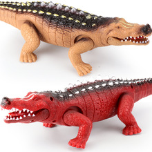 Buy Children's Electric Toy Crocodile Walking with Voice and Light Emission directly from merchant!