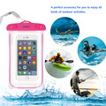 Universal Waterproof Case Cover 4 Colors Transparent Luminous PVC Waterproof Bag for iPhone 5 5s 6 6s Plus with Adjustable Neck