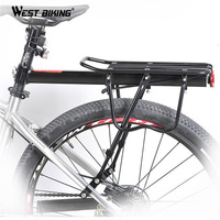 Load 50Kg Bike MTB Road Black Cycling Sport Rear Carrier Rack Seat Bicycle Outdoor High Strength