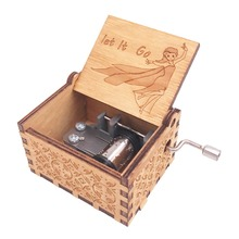 Frozen Hand Crank Music Box 18 Note Musical Box Carved Wooden Musical Toys for Boys Christmas Gift for Kids,Play Let it Go все цены