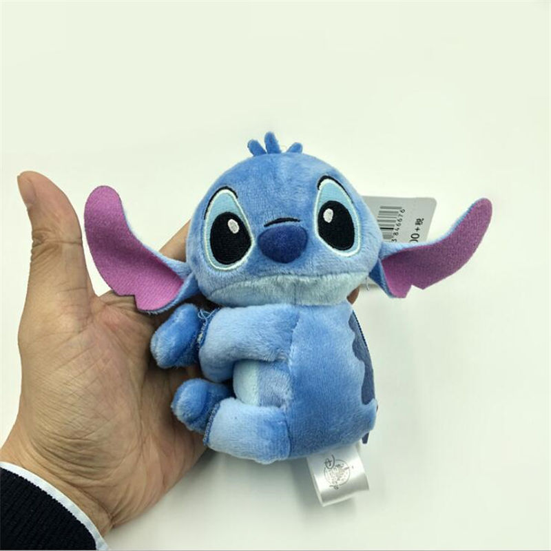 12CM Kawaii Stitch Small Pendant Plush Doll Toy Stitch Coin bag For Kids Student Children Christmas
