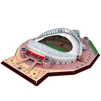 Classic 3D Jigsaw Models Doha City 2022 State of Qatar Football Game Stadiums World DIY Brick Toys Scale Sets Paper