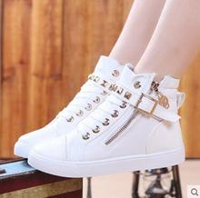 Girls sandals autumn new baby canvas shoes high help children between cuhk students children's leisure sports shoes