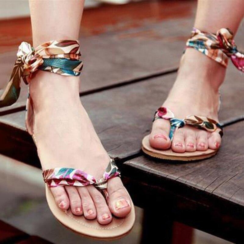 ENMAYER free Shipping Stylish Colorful flats for women Summer Sandals Bige Size 34-43 bohemian sandals Sweet fashion shoes women