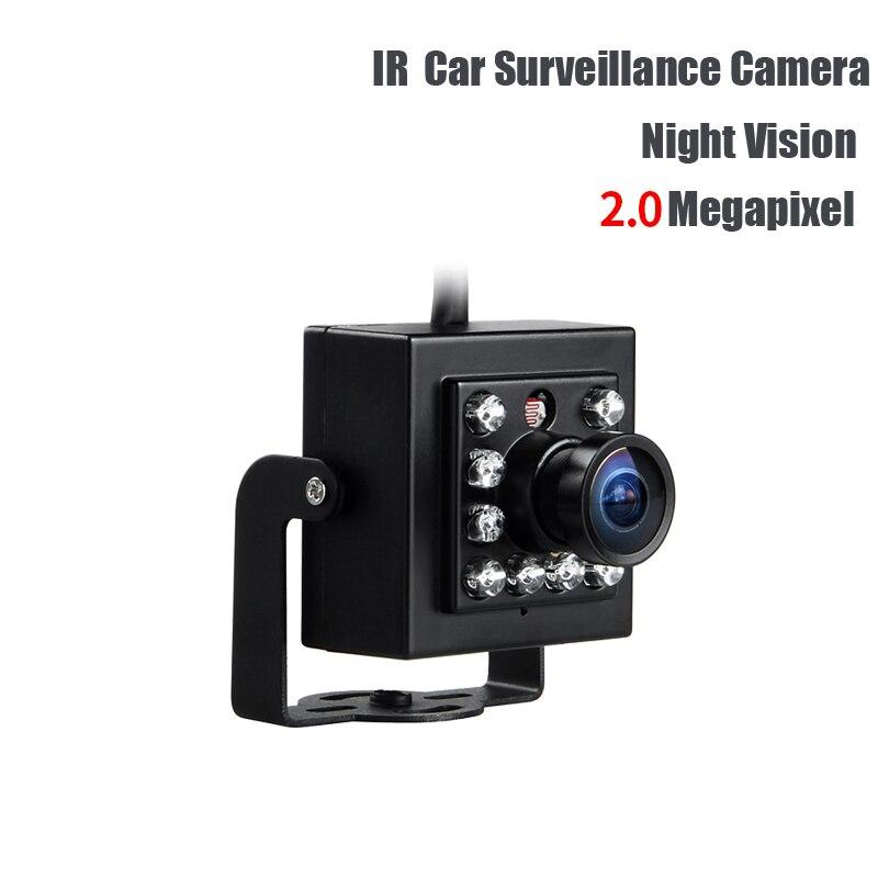 AHD 3.6mm 2.0MP IR Night Vision Mini HD Car Camera For Auto Vehicle Truck School Bus Boat Dvr Surveillance,DC12V Free Shipping