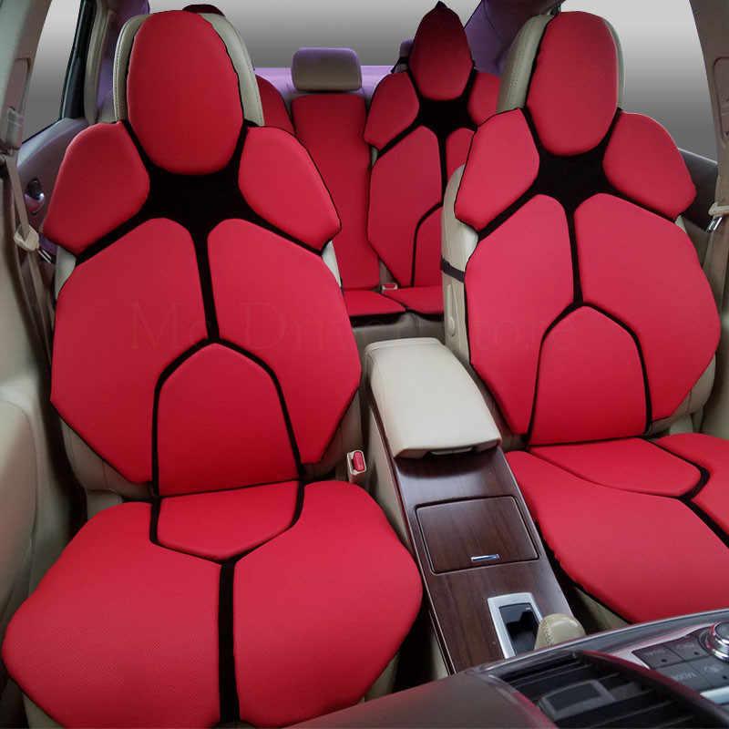 Luxo Tampa de Assento Do Carro Quatro temporadas assento Almofada macia Para Porsche Cayman Cayenne SUV Auto 5 Tecnologia-car styling pad 13 cor