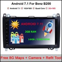 2 GB de RAM Android 7.0.1 Quad Core para Mercedes Benz B200 A160 W169 W245 Viano Vito Sprinter W906 W209 Crafter Radio GPS
