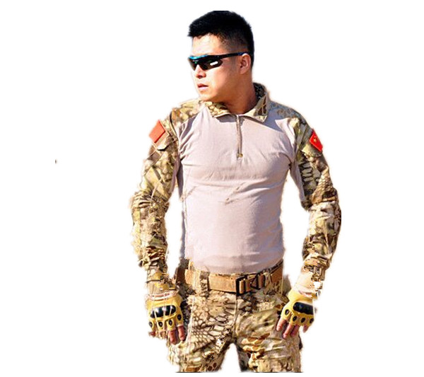 Tactical Army Shirt With Pads Phoenix Dress US Frog Suits SHITE Desert Python S-XXL
