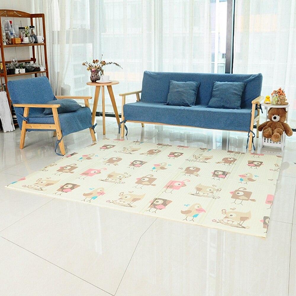 Pliable bébé tapis de jeu épaissi mousse infantile tapis bébé chambre Puzzle tapis enfant jouets éducatifs 150X200 CM - 5
