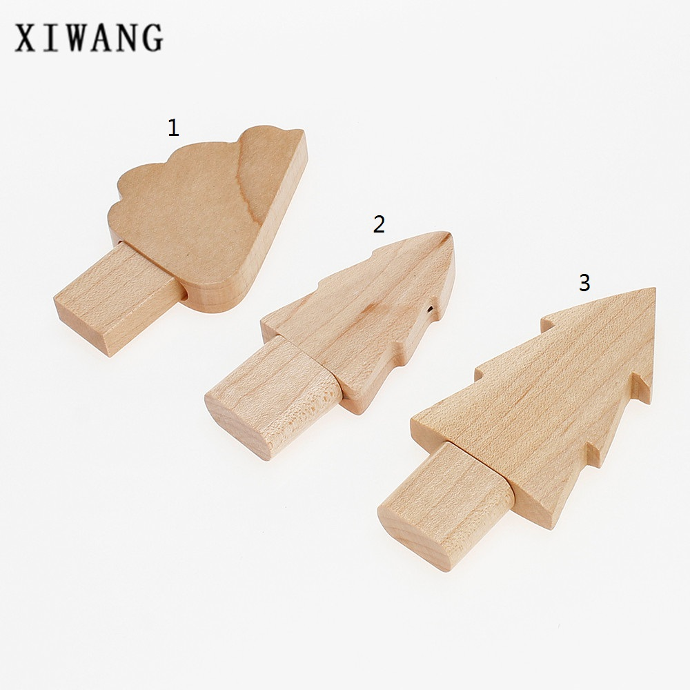 Image 5 - Wooden Christmas Tree USB Flash Drive 4GB 8GB 32GB USB memory stick Creative Gift Pen Drive 16GB pendrive 64GB gift custom logo-in USB Flash Drives from Computer & Office