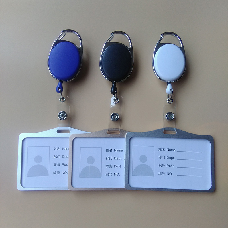 2017 Adjustable 60cm Horizontal Badge Clip Of Metal Aluminum Alloy ID Card Display ID Card Personality Contracted Work Offices