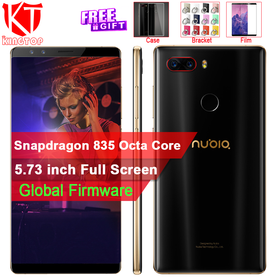 Original ZTE Nubia Z17S Mobile Phone Snapdragon 835 68GB RAM 64GB ROM 5.73 inch Android Rear Camera 23MP+12MP Full Screen Phone beautiful ocean
