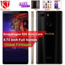 Оригинальный мобильный телефон zte Nubia Z17S Snapdragon 835 5,73 6/8 ГБ ОЗУ 64 Гб ПЗУ дюймов Android задняя камера 23MP + 12MP полноэкранный телефон