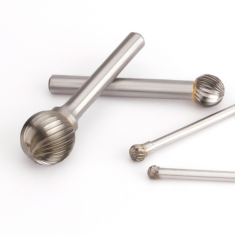2.35mm D Type Double Thread Tungsten Steel Grinding Rotate Polishing Head