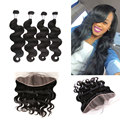 Malibu Dollface Recommend Pre Plucked Lace Frontal Closure With Bundles 4pcs Peruvian Body Wave hot beauty hair 5pcs Lot