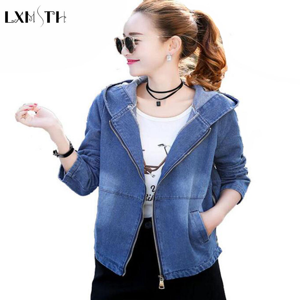 Online Get Cheap Jean Jackets Ladies Hooded Coat Outerwear ...