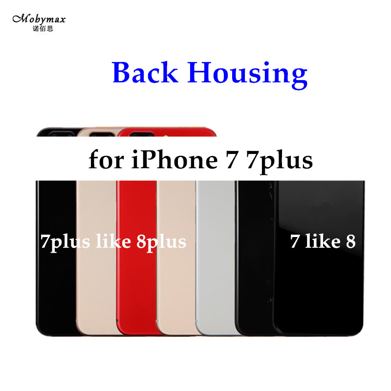 Chassis Back Housing Battery Cover Fundas for iPhone 6 7 like 8 or 7 Plus like 8 Plus Housing+LOGO&Buttons&Sim Tray+Sticker+Tool