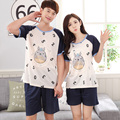 2017 - Couples Number & Totoro pattern short sleepwear XXL