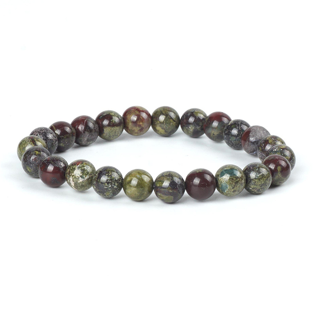 Natural Dragon Bloodstone Bracelet