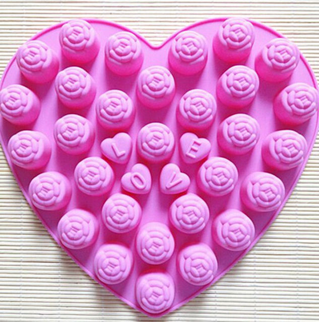 Fondant Kuchen Dekorieren Valentinstag Herzform Silikon Backformen