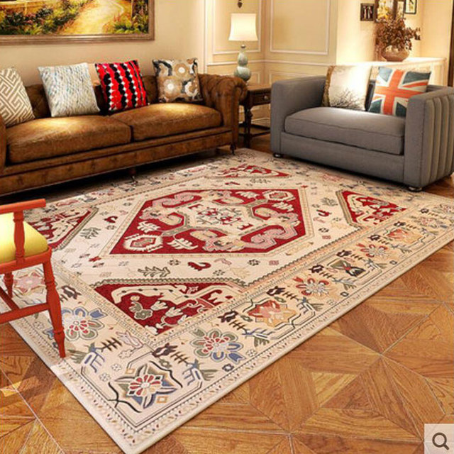Fashion Classical European Flora Delicate Large Carpet For Decorate