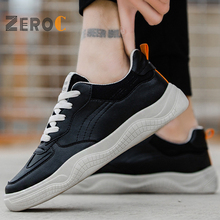 Contrast Color New Men Casual Shoes Breathable Wear Resistant Comfortable Summer White Round Toe Lace up Flat Snekaers