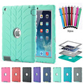 For iPad 4 Case Shockproof Hybrid Armor Heavy Duty Stand Kids Safe Silicone PC Hard Cover funda for Apple iPad 2 3 4